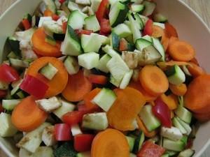 Gemüseschnipsel